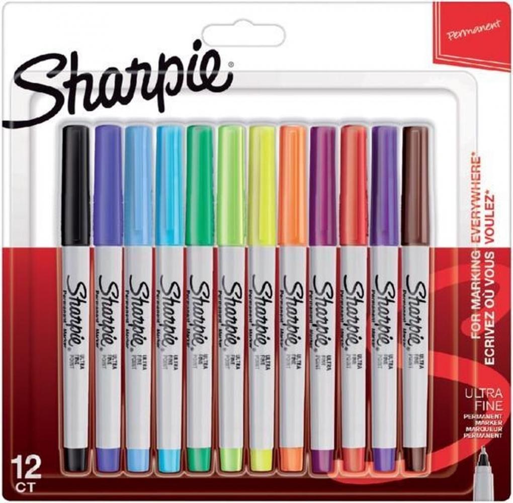 ,Viltstift Sharpie rond 0.5mm blister à 12 stuks fun assorti