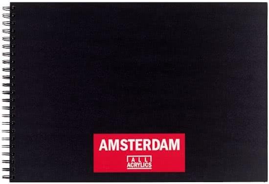 ,Talens amsterdam acrylverfblok a3 oblong 250 gr 30 vel 93023020