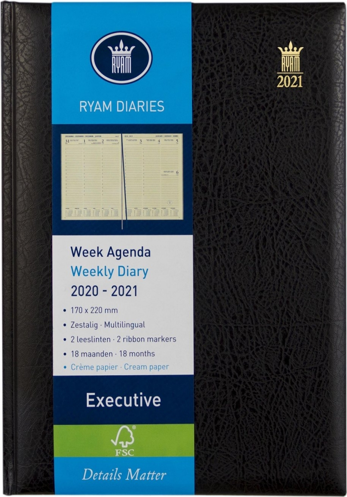 ,Ryam executive agenda 2020-2021 18 maanden 170x220 zwart