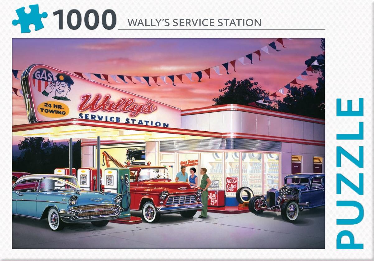 ,Wally`s service station - puzzel 1000 stukjes