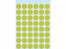 , Etiket Herma 1868 rond 12mm fluor groen 240stuks