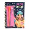 ,<b>Topmodel neon doodle kleurboek</b>