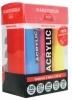 ,<b>Talens amsterdam acrylverf 4 tubes primair + wit 120 ml met 3 doseringstuitjes</b>