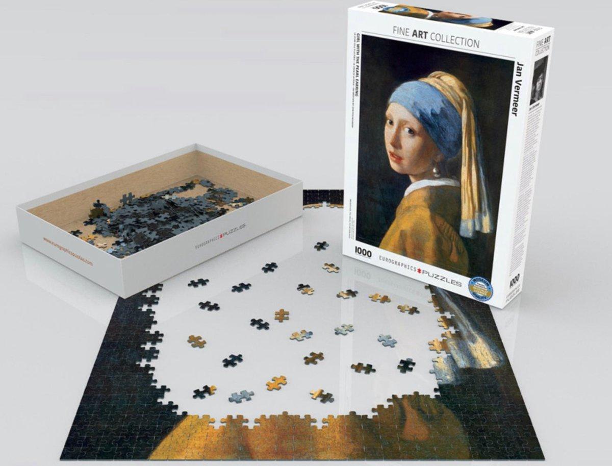 Eur-6000-5158,Puzzel eurographics girl with the pearl earing - vermeer- 1000 stukjes