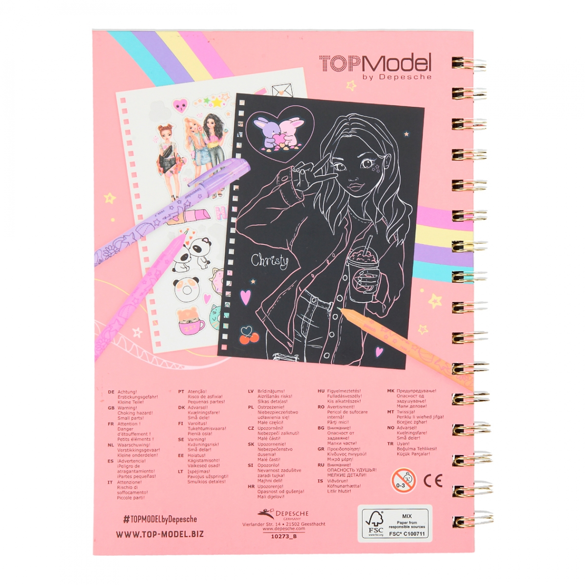 ,Topmodel neon doodle kleurboek