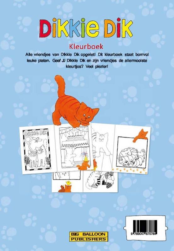 Jet Boeke,Dikkie Dik - Kleurboek