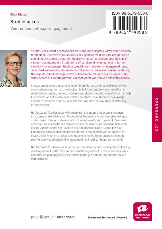 Ellen Klatter,Studiesucces