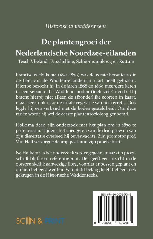 Franciscus Holkema, H.C. van Hall,De plantengroei der Nederlandsche Noordzee-eilanden