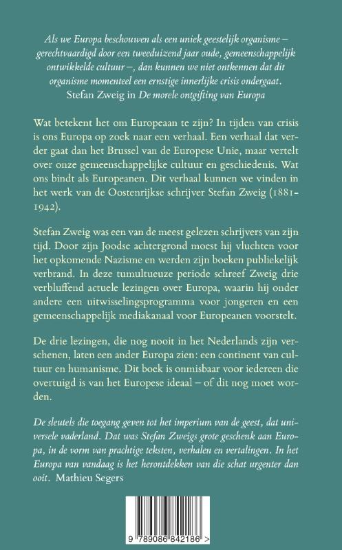 Stefan Zweig,Aan de Europeanen van vandaag en morgen