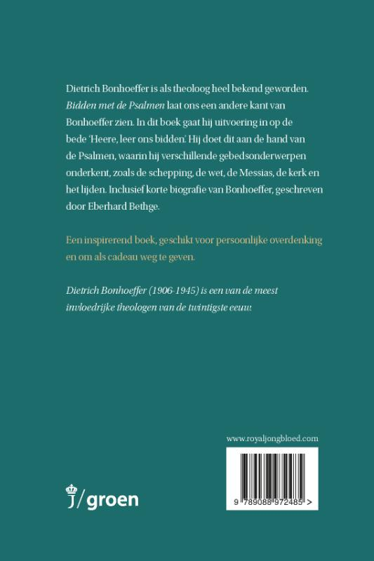 Dietrich Bonhoeffer,Bidden met de Psalmen
