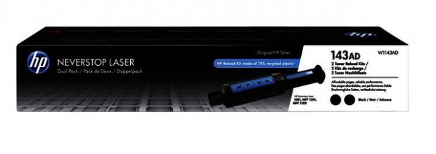 , TONER HP HP 143A NAVULLING  W1143AD 2x zwart