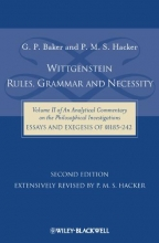 Baker, Gordon P. Wittgenstein: Rules, Grammar and Necessity