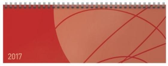 Tischquerkalender Professional Colourlux rot 2017