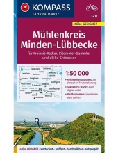 Kompass-Karten Gmbh , KOMPASS Fahrradkarte Mühlenkreis Minden-Lübbecke 1:50.000, FK 3217