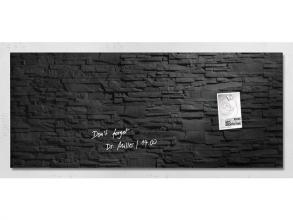 , glasmagneetbord Sigel Artverum 1300x550x15mm leisteen