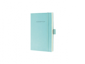 Co587 Notitieboek a6 conceptum blanco look vilt lichtblauw