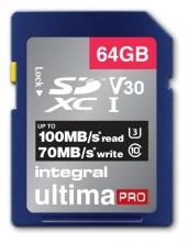 , Geheugenkaart Integral SDXC V30 64GB
