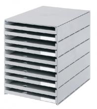 , Ladenbox Styroval 10 laden grijs open