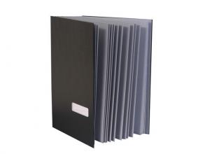 , vloeiboek Kangaro zwart A4 20-vaks