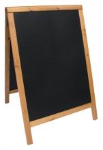 , Stoepbord Securit 55x85x3cm teak hout
