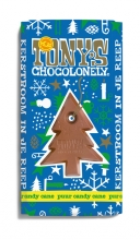 , Chocolade Tony`s Chocolonely reep 180gr puur mint candy cane