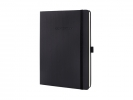 ,notitieboek Sigel Conceptum Pure hardcover tablet formaat   zwart gelinieerd