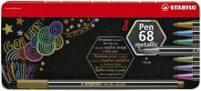 ,<b>Viltstift STABILO Pen 6808/8-32 metallic blik à 8 kleuren</b>