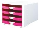 ,ladenkast HAN Impuls wit/     roze incl. 4 etiketten 294x368x235mm                        open laden