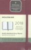 ,Moleskine 12 month planner - weekly - pocket - berry rose - hard cover