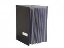 ,vloeiboek Kangaro zwart A4 20-vaks