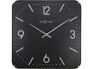,Wandklok NeXtime 35 x 35 cm, bol glas, zwart, `Basic square dome`