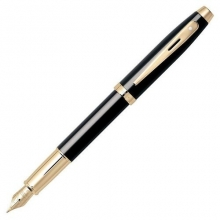 Sh-e09322530 , S50 sheaffer 100 vulpen laque zwart gold accenten