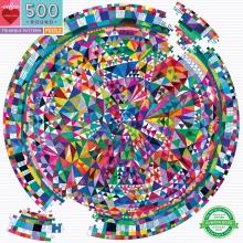 , Puzzel eeboo - triangle pattern - 500 stukjes - 58.5 rond