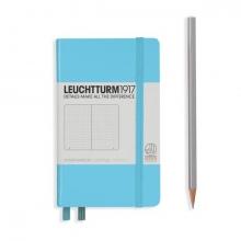 Lt357477 , Leuchtturm notitieboek pocket 90x150 dots / bullets ijsblauw
