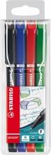 , Fineliner STABILO Sensor 189 etui à 4 kleuren