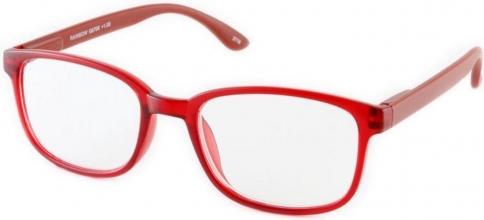 , Leesbril +3.00 regenboog donkerrood