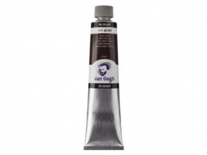 , Talens van gogh olieverf tube 200 ml omber gebrand 409