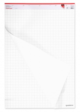 , Flipoverblok  65x100bm blanco/ruit