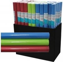 , Kafpapier kraft uni trend 3 meter x 50 cm groen/rood/lichtblauw