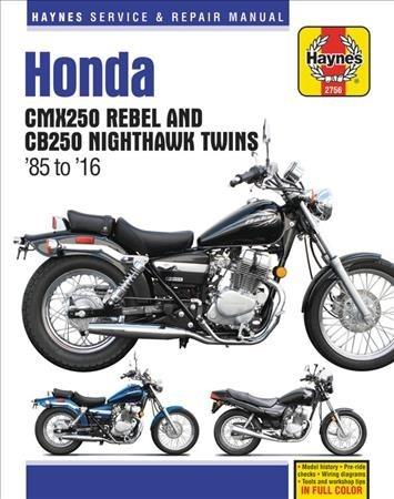 Haynes Publishing,Honda CMX250 Rebel & CB250 Nighthawk Twins (85-16)