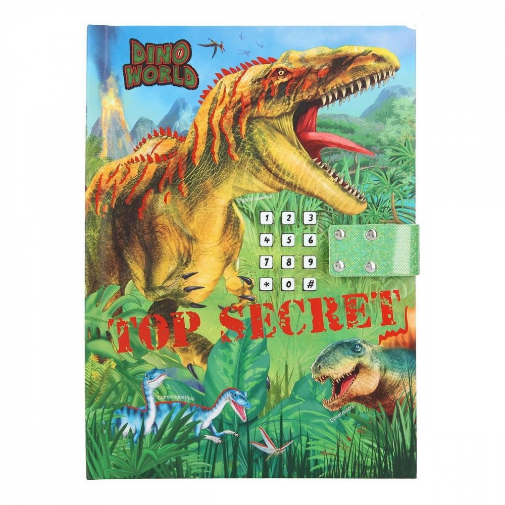 ,Dino world dagboek met geheime code