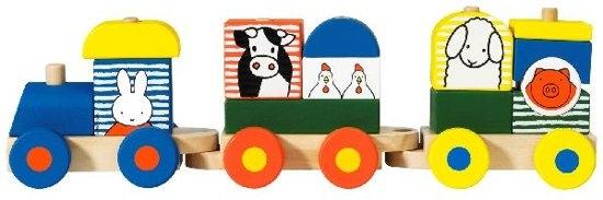 Bat-33408,Nijntje houten blokken trein