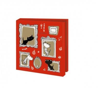 Wmc1011,Kerstkaart mapje 10 stuks met env fiep westendorp pim en pom