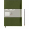 <b>Lt349284</b>,Leuchtturm notitieboek composition softcover 178x254 mm lijn legergroen