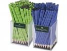 , potlood Faber Castell GRIP 2001 2 kokers a 72 stuks         lichtgroen/blauw