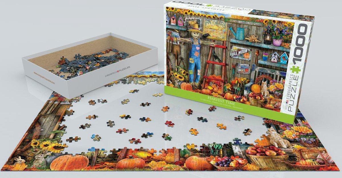Eur-6000-5448,Puzzel eurographics harvest time 1000 stukjes