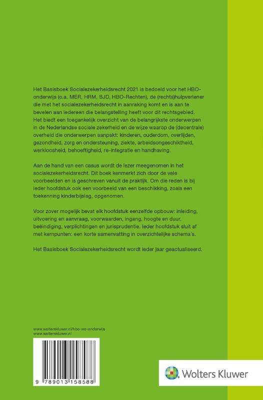 I.A.M. van Boetzelaer-Gulyas,Basisboek Socialezekerheidsrecht 2021