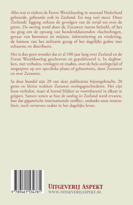 Henk van der Linden,Zeeland en de Eerste Wereldoorlog