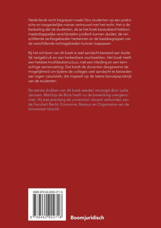 Matthijs de Blois,Nederlands recht begrepen