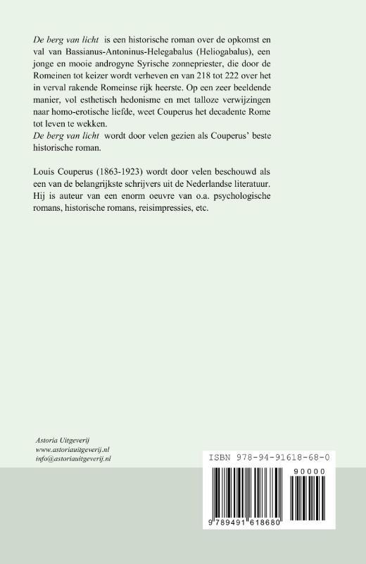 Louis Couperus,De berg van licht